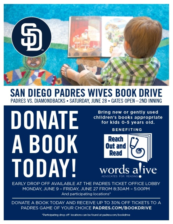 San Diego Padres Wives Book Drive
